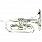 King 1121SP Marching Mellophone, Slv