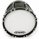 Evans MX1 White Marching Bass Drum Heads