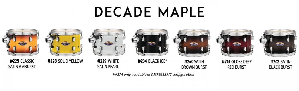 Pearl Dmp Decade Maple Drum Set Shell Pack Only Products